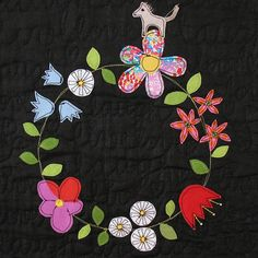 Love quilt- detail by syko Kajsa, via Flickr