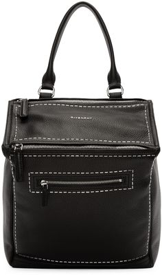 GIVENCHY Black Studded Pandora Backpack.  givenchy  bags  leather  lining   backpacks f11e59d04307b