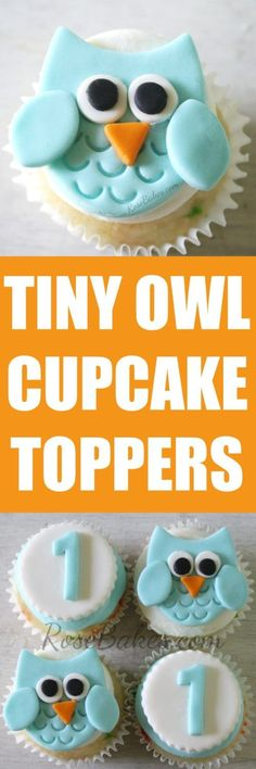 Tiny Owl Cupcake Toppers