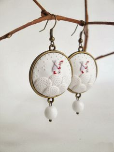 Winter Earrings by DZ HANDMADE | Polymer Clay Planet