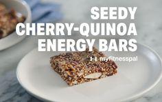 Seedy Cherry-Quinoa Energy Bars