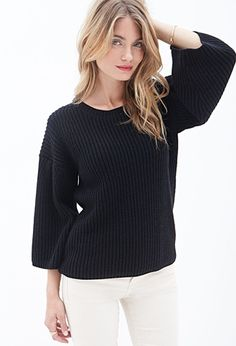 Textured Knit Sweater | FOREVER 21 - 2000059018