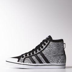 adidas - Zapatillas Casuales Honey Stripes Mid Mujer Core Black / Core Black / White M25514