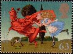 Literary Stamps: Carroll, Lewis (1832–1898)