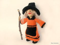 Witch crochet Dolls Amigurumi gift Crochet Doll by KnittedJoy1