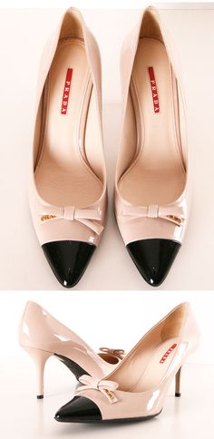 PRADA Nude Bow Heels ♥  Everything this Fall is coming up bows!