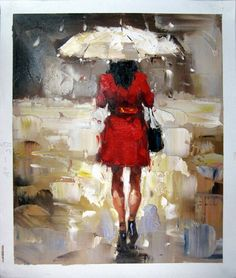 20 x 24 inches - Figurative - Shopping girl - - oil on canvas painting art - Gift idea by ChiangPaintingArt on Etsy China Shopping, Girls Shopping, Oil Painting On Canvas, Canvas Art, Painting Art, Umbrella Painting, London Street, Contemporary Artists, Original Art