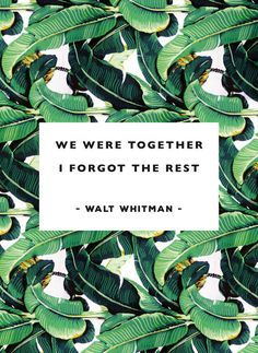 We were together A4 banana leaf print by ScriptandserifStudio