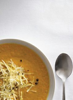 #Recipe: Lentil Celery Root Soup.