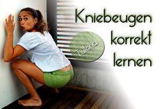 Kniebeugen richtige Ausführung - Beste Übung für dünne, definierte Beine...