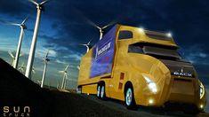 SunTruck, Trucks, Hybrid Engine, Electric Engine, Solar Energy, Future Car, Future Auto, Future Vehicle