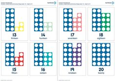 Here's a set of Numicon cards for numbers 1-31.