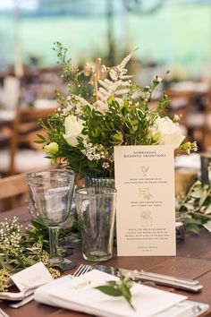 Greenery Table Centrepiece | Rustic Soho Farmhouse Ceremony with PapaKata Sperry Tent Greenery filled Reception | Marianne Taylor Photography | Will Warr Films