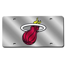 Miami Heat Mirror License Plate Laser Tag