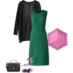 Deep Winter's green is a rich emerald green. It's a tad cool. I accessorized with a saturated cool pink. Winter's look great in high contrast jewel tones.  Have fun and wear what you love!  Jen Thoden Download Your Deep Winter Style Guide Today
