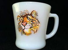 Anchor Hocking Fire King Tiger Mug | eBay