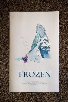 ON SALE Disney's Frozen Limited Edition Giclee by CreationsByDerek