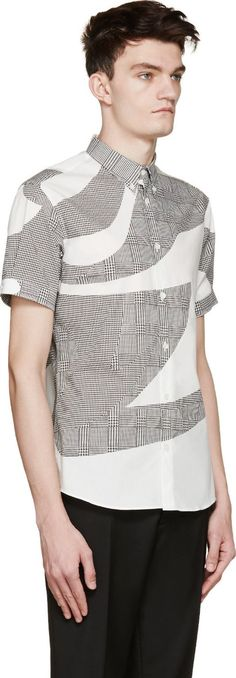 Farb- und Stilberatung mit www.farben-reich.com - Alexander McQueen White & Black Prince Of Wales Shirt