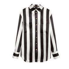 Balmain x hm striped button down Brand new with tags and garmet bag Balmain x hm Tops Button Down Shirts