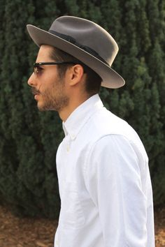 4c93cf26b72 This grey wide-brim fedora is LITERALLY the perfect staple for any man s  wardrobe.