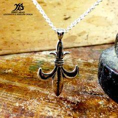 "Depeche Mode ""It's No Good"" sterling silver pendant. Handmade by Mirit Arad."