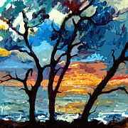 Jekyll island Sunrise Modern Painting by Ginette Callaway. Fine art prints, framed prints, and canvas prints available Watercolor Paintings, Original Paintings, Art Paintings, Sunrise Painting, Jekyll Island, Large Art, Oeuvre D'art, Les Oeuvres, Wall Art Prints