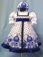 Фото детский костюм гжель