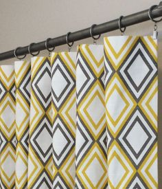 Curtains panel yellow drapes designer flate rod top for 120 pouces rideaux ikea