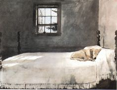 andrew wyeth - i think every dog lover has this framed painting in their bedroom!!!
