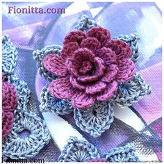 Pretty Crochet Flower.  Tutorial.