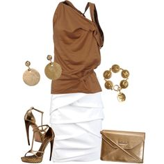 Classy Outfits | Brown & Gold | Fashionista Trends