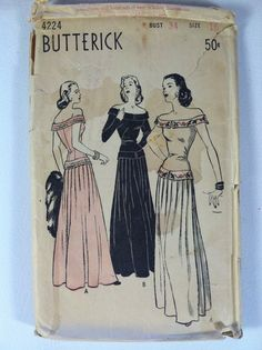Butterick 4224: evening gown with amazing embroidered band detail