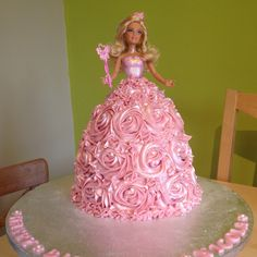 Super sparkly, shimmery Barbie Princess cake! For a special little girls bday coming up...