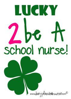 Diary Of A School Nurse: Free St.Patrick's Day Prints