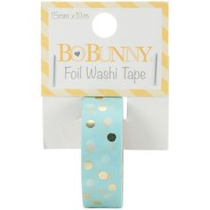 BoBunny Essentials Washi Tape - Gold Foil Dot