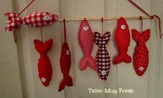 #peces #fish #rojo #poissons  #mural #movil