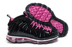 Women Air Foamposite One Black Pink Purple Basketball Shoes 9e885744e
