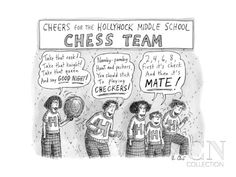 Cheers from the Hollyhock Middle School Chess Team -- chess-related cheers - New Yorker Cartoon Poster Print by Roz Chast at the Cond� Nast Collection
