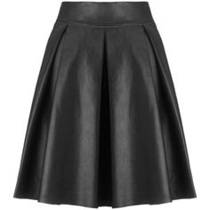 Love that it's a leather skirt and it's not fitted! Somerset by Alice Temperley Leather Flare Skirt, Black
