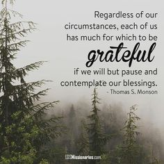 Regardless of our circumstances, each of us has much for which to be grateful if we will but pause and contemplate our blessings. Grateful Quotes, Gratitude Quotes, Attitude Of Gratitude, Grateful Heart, Positive Quotes, Lds Quotes, Great Quotes, Inspirational Quotes, Motivational