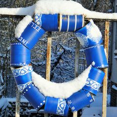 Es ist Winter geworden #schnee #winter #garten #deko #recycling