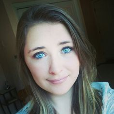 Blue eyes, everyday makeup, and messy hair! This is me ^.^