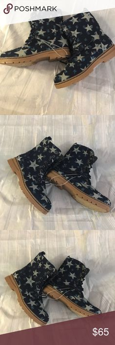 Dirty laundry combat boots Very cute women combat blue with star boots new with out box. dirty laundry Shoes Combat & Moto Boots