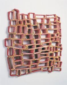 Elisa D'Arrigo  cloth, wax,  acrylic paint, thread