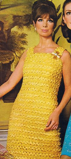 Hairpin Crochet PDF Two Piece Dress Pattern Sizes 8-18 Vintage 60s Reproduction Instant Digital PDF ePattern Download