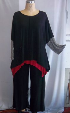 Coco and Juan Lagenlook Plus Size Top Black Knit by COCOandJUAN