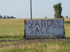 From the looks of the sign, the sale's been going on a while -- maybe it's an annual event.