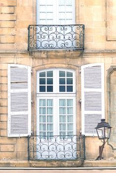 France Travel Fine Art Photograph TITLE: Window in Sarlat, France  Fine art photographic print of the historic town of Sarlat in the Dordogne