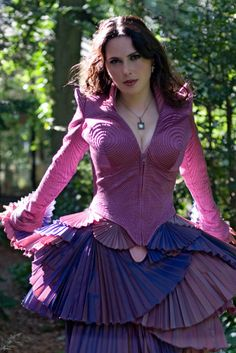 Sharon den Adel of Within Temptation - weird fashionista...like Lady Gaga but with taste.