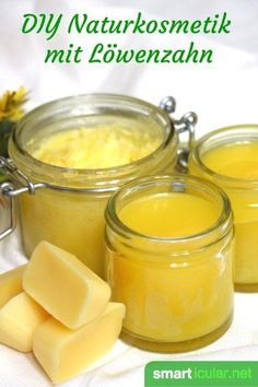 Healing natural cosmetics - with dandelions- Heilende Naturkosmetik selbermachen – mit Löwenzahn You can easily make ointments and other skin care products yourself. Use the powers of nature to make them even better and healthier! Diy Beauty Organizer, Belleza Diy, Homemade Cosmetics, Beauty Recipe, Diy Skin Care, Natural Cosmetics, Homemade Beauty, Natural Skin Care, Body Care